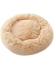 feelingood Pet Dog Cat Calming Bed Round Nest Warm Soft Plush Comfortable for Sleeping Winter