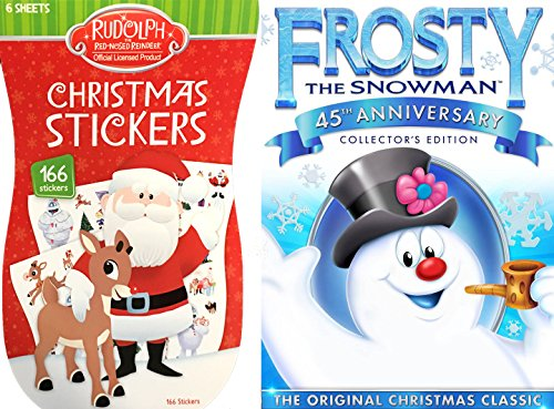 Frosty the Snowman (45th Anniversary) Sticker Book Play Pack with Animated DVD Christmas Classic Holiday Special