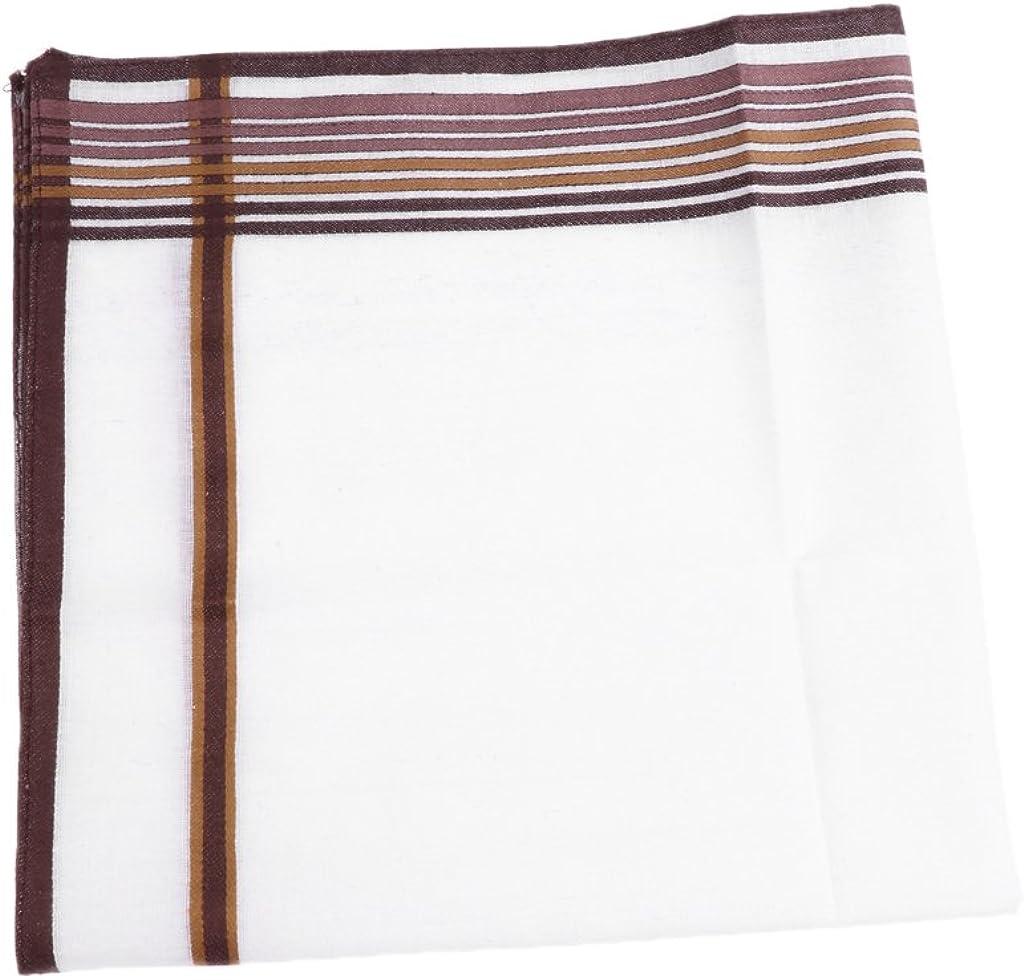 Fenteer 12pack Men Pocket Square Handkerchief Cotton Wedding Party Hanky 43x 43cm