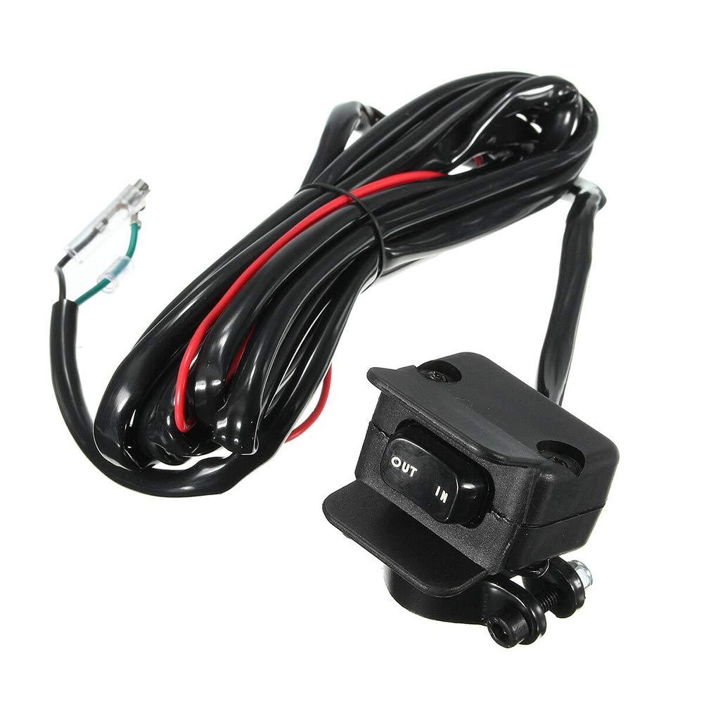 accessoires de mise en garde BESTEU Interrupteur /à bascule de treuil de 3 m/ètres pour la ligne de commande de guidon dATV//UTV