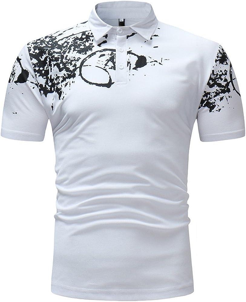 SALLYDREAM Camisas Polo para Hombre Camisa Slim fit para Hombre de ...