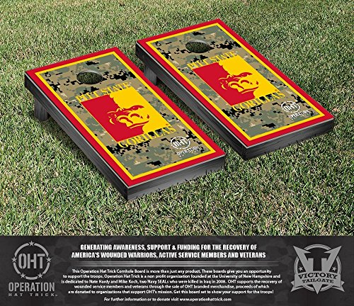 NCAA Pittsburg State University Gorillas Border Version Operation Hat Trick Cornhole Game Set by Victory Tailgate