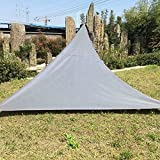 XGZ Sun Shade Canopy, Triangle Waterproof Sun Protection Canopy Collapsible and portable Outdoor Tent Patio Pool Shade shelter Sail Awning Camping Picnic Tent (33m, Gray)
