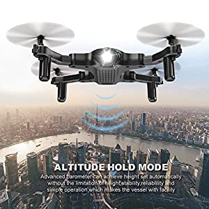 Drone for Beginners, Portable RC Mini Quadcopter with Foldable Arms for Indoor/Outdoor Play, 2.4Ghz 4CH 6-Axis Gyro One-Key Return/Headless Mode/Altitude Hold/3D Flips, Easy to Control from ScharkSpark