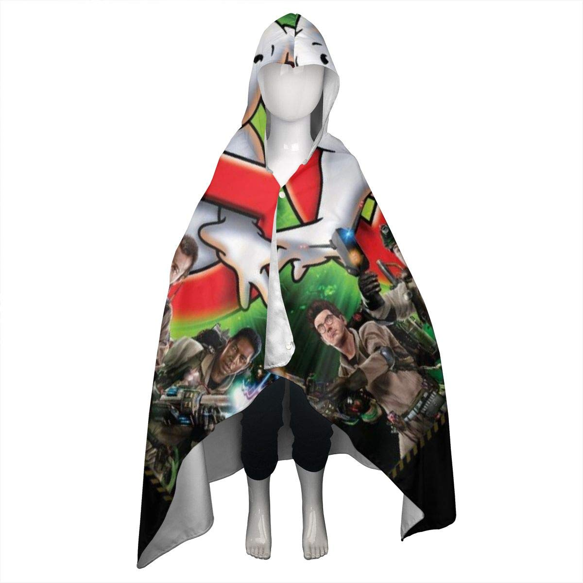 Ghostbusters Hooded Bath/Pool/Beach Towel Soft Hooded Throw Blanket Wearable Hooded Blanket for Adult and Kids by BurnNow (Image #1)