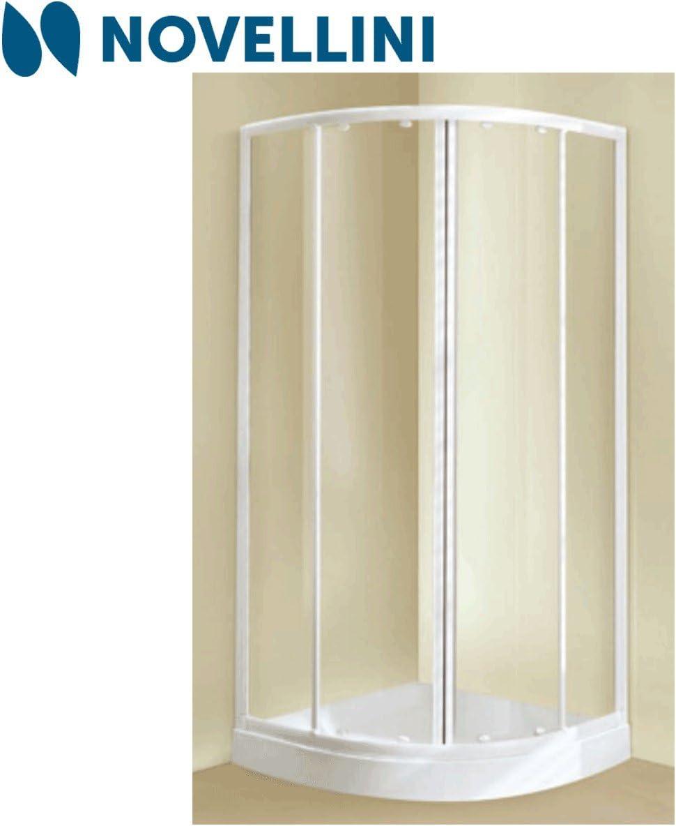 Box ducha Lunes Mod. Tris R semicircular 78,5 ÷ 81,5 acrílico Hielo Blanco: Amazon.es: Bricolaje y herramientas