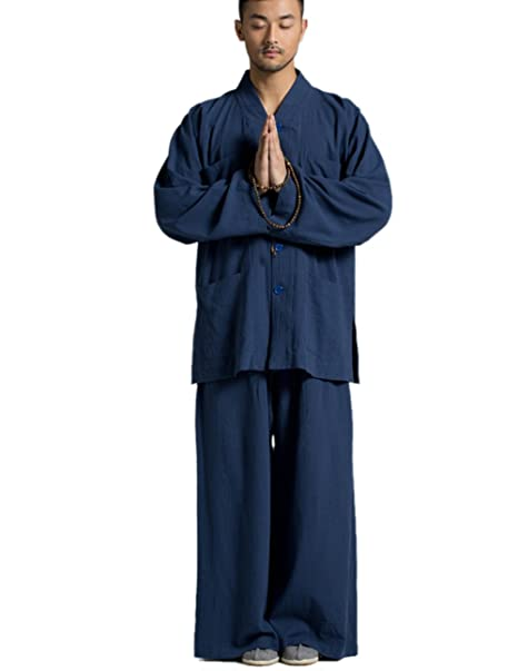 Traje azul Trajes de monje budista Religión Katuo Plus Size ...
