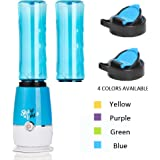 BYMEE Shake n Take Latest Version 3rd Generation Fruit Juice Smoothie Blender Mixer with 2 Sports Bottle BPA Free-Blue