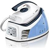 Bosch TDS2140 Serie | 2 Centro de planchado, 2.400 W, 4.5 bares de presión, color blanco y azul