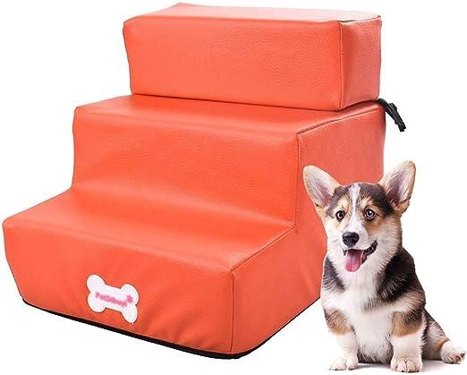Escalera de Mascota Escaleras de Perro ensamblables para sofá, rampa para peldaños de Cama para Perros con rampa Desmontable para Mascotas, hasta 3 kg, Superficie Impermeable (Color : Naranja): Amazon.es: Hogar