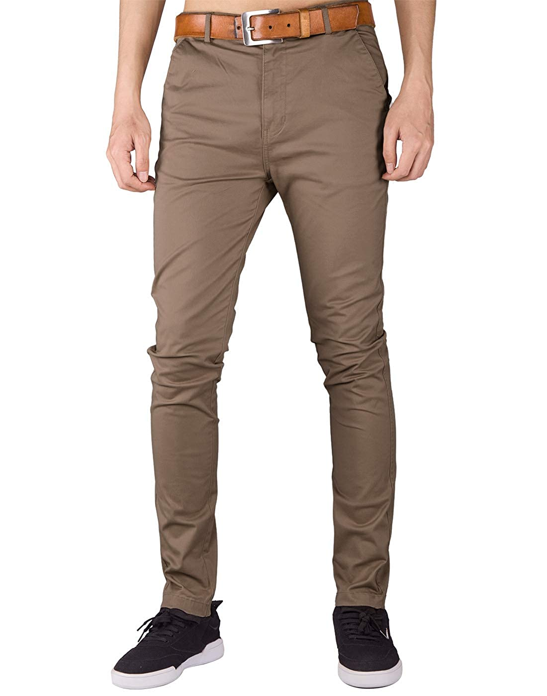 ITALY MORN Men's Chino Casual Pants Slim Fit