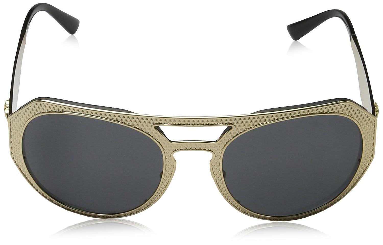 de350d8c2a6 Amazon.com  Versace Women s VE2175 Sunglasses Gold Grey 60mm  Versace   Clothing