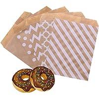 100 Bruine Papieren Zakjes, Kraft Envelop Platte Zakjes voor Verjaardagsfeestjes, Bedrijfsfeestjes, Bruiloftsnoepjes…