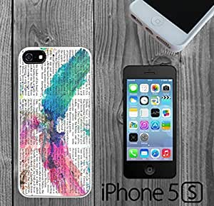 Abstract Watercolor Eagle Newspaper Custom made Case/Cover/skin FOR iPhone 5/5s hjbrhga1544