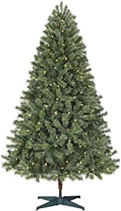 Home Accents Holiday 6.5 ft. Festive Pine Pre-Lit Artificial Christmas Tree with 250 Color Changing LED Lights and 3 Functions