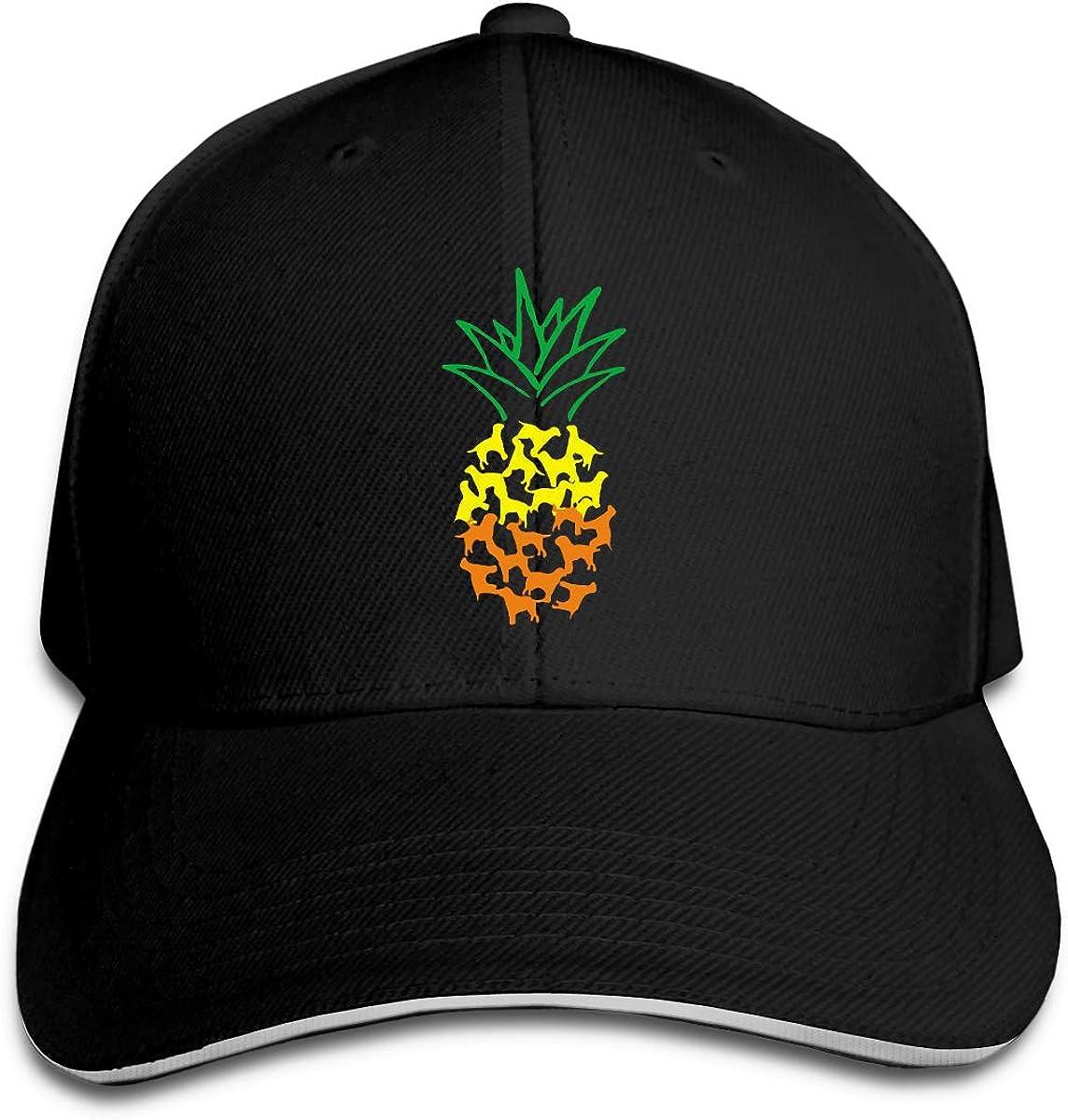 Labrador Retriever Pineapple Outdoor Snapback Sandwich Cap Adjustable Baseball Hat Street Rapper Hat