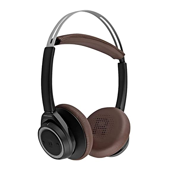 9682829f103 Image Unavailable. Image not available for. Color: Plantronics Backbeat  Sense Black/Espresso Stereo Bluetooth Wireless Headphones ...
