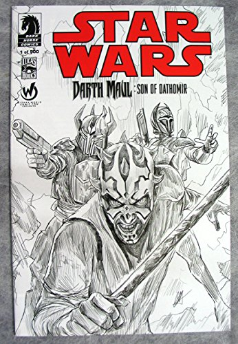 (Star Wars Darth Maul Son of Dathomir #1 Limited 500 Copies Atlanta Wizard World Comic Con SKETCH Variant)