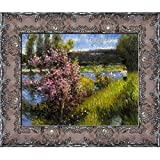 overstockArt The Seine at Chatou by Renoir with Italian Renaissance Frame, Antique Finish Detail