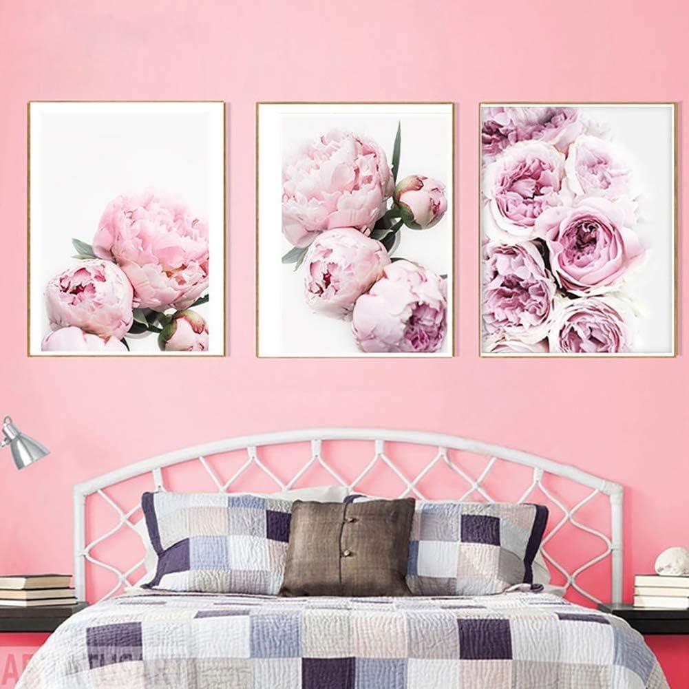 Toile 20 * 30 Zmigrapddn moderne Pivoine sans cadre Peinture sur toile Poster Tableau mural D/écoration pour salon Chambre /à coucher 2