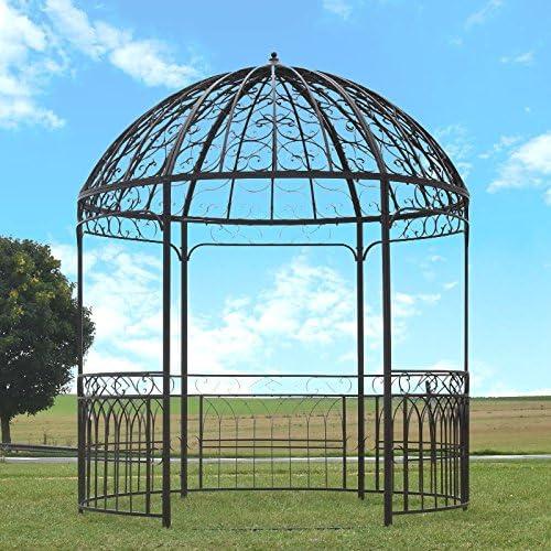 Gran carpa Gloriette Kiosko de jardín hierro diámetro 250 cm: Amazon.es: Hogar