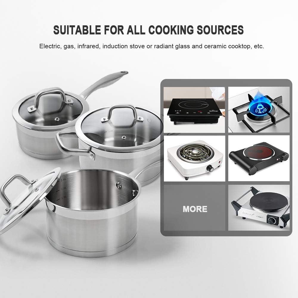 duxtop SSIB-10 duxtop-SSIB-10PC-2Y Batterie de cuisine induction en acier inoxydable 10 pi/èces