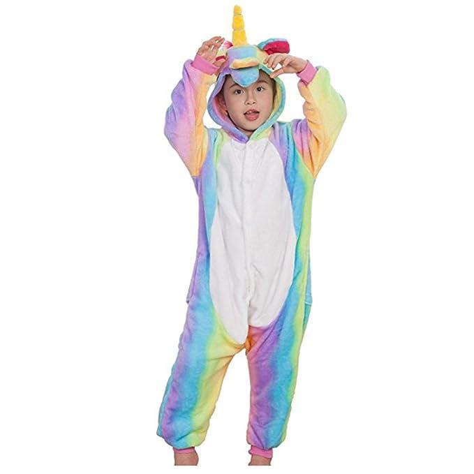 Casa - Pijamas de UnaPieza , Unicornio Niños Adulto Kigurumi Unisexo Traje de Disfraz Animal Pyjamas