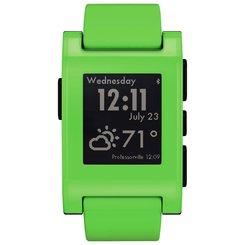 Pebble - Smartwatch para iPhone y Android (Color Fresh Green ...