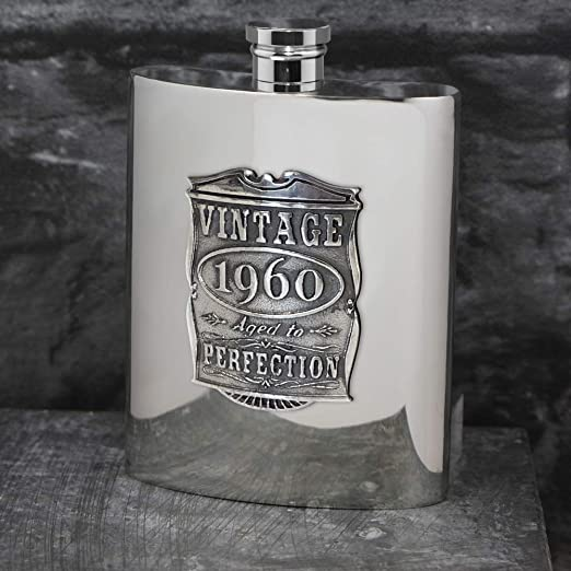 Amazon Com English Pewter Company Vintage Years 1960 60th Birthday Or Anniversary Pewter Liquor Hip Flask Unique Gift Idea For Men Vin016 Flasks