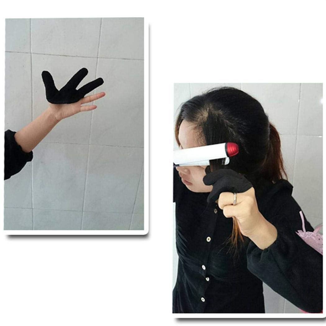 Dickin Hairdressing Three Finger Glove Black Heat Resistant Finger Glove Styling Tools Styling Treatments