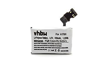 vhbw Litio polímero batería 330mAh (3.7V) para smartwatch ...