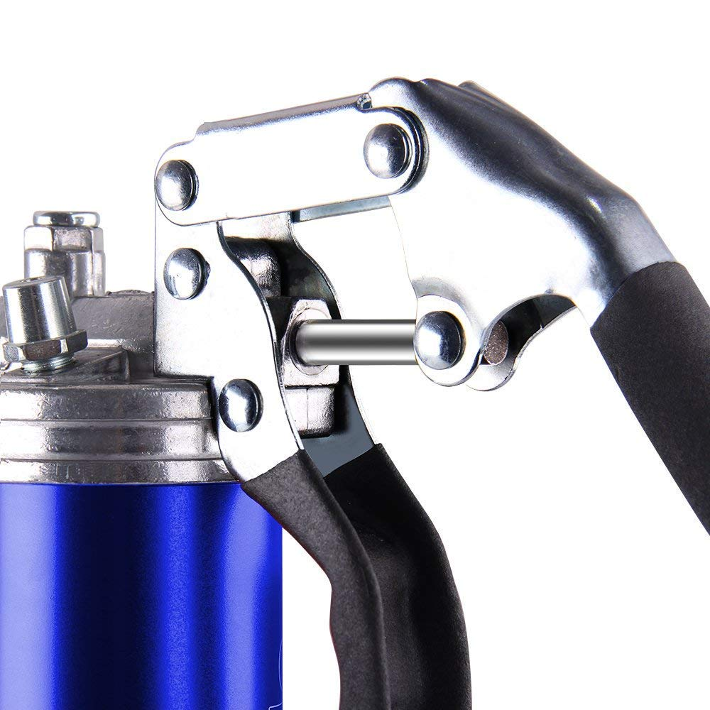 CarBole Heavy-Duty 8000PSI Pistola de engrase con una Sola Mano para Cartuchos de 400 g o Grasas de derrame