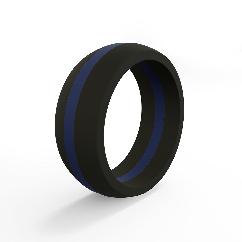 【海外限定】 QALO-メンズシリコンリング(品質は Silicone、陸上競技、愛とアウトドア)は16-25のサイズを B01E0CFZXU Blue Line - Silicone Line 10 Blue Ring 10 10 Blue Line - Silicone Ring, 北中城村:6645558b --- arianechie.dominiotemporario.com