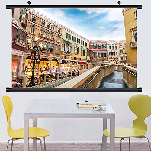 Gzhihine Wall Scroll Postermacau china nov the venetian macao resort hotel mall on nov in macau this is a major ,Wall Art Paiting on Canvas 35