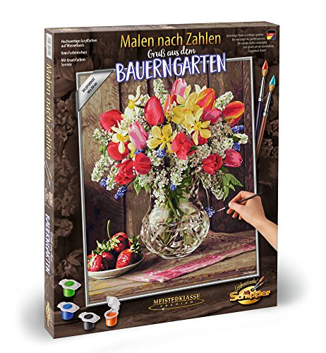 (Noris Spiele Schipper Paint by Numbers – 609130790 A Greeting from The Cottage Garden, 40 x 50 cm Multi-Coloured )