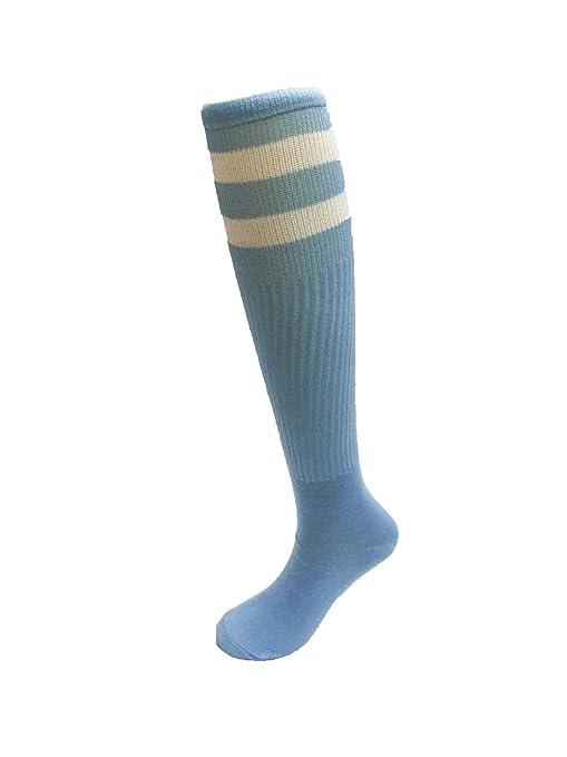 Adulto Toallas De Extremo Liso De Fútbol Calcetines De Cañón Largo Multicolor