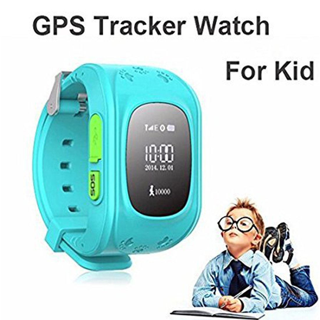 Berry Smart Wrist Watch with Q50 Kids GPS Tracker and Sim Support System