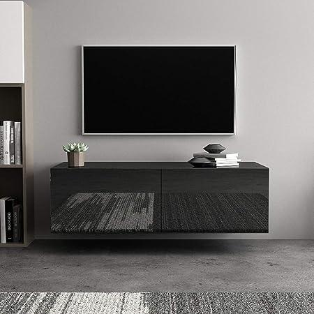 Mueble para Televisión Estilo Moderno 100 x 30 x 40cm Mueble para TV de Pared con Cajon TV Unidad Gabinete para Dormitorio, Sala de Estar, Oficina, Hotel(Negro): Amazon.es: Hogar