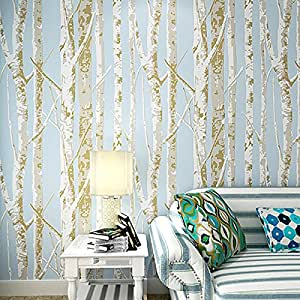 Blooming Wall Birch Tree Wallpaper Wall Mural Wall Paper ...