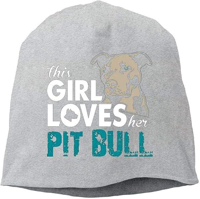 Unisex Winter Hats This Girl Loves Her Pit Bull Skull Caps Knit Hat Cap Beanie Cap for Men//Womens