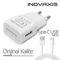inovaxis Huawei P20 Pro Hızlı Şarj Cihazı + Type-C Data Kablosu, Beyaz, 2.2A cc22
