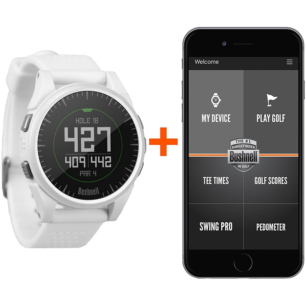 Bushnell 2017 Excel Golf GPS Watch Rangefinder (WHITE) Comes with 1 Custom Ball Marker Hat Clip Set (American Eagle) 35,000+ Worldwide Courses by Bushnell (Image #2)