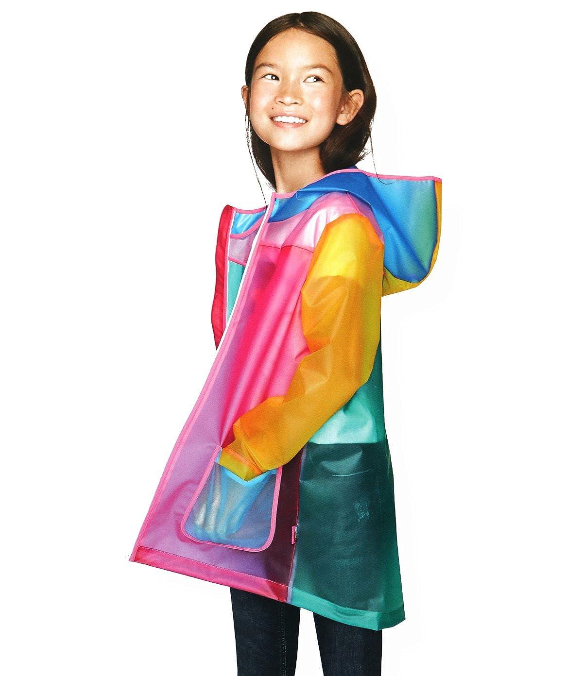 CADong Little Girls'color TPU Waterproof Hooded Coat Jacket Outwear Raincoat