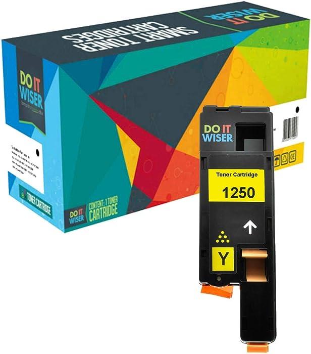 Do it Wiser Compatible Toner Cartridge Replacement for Dell C1760nw C1765nfw 1250c 1350cnw 1355cn 1355cnw C1765nf - WM2JC Yellow
