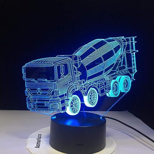 BFMBCHDJ 7 colores que cambian la luz de la noche 3D LED licuadora ...