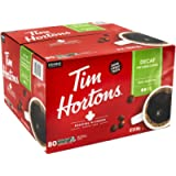 Tim Hortons Decaf Single Serve Coffee Cups, 80 Count