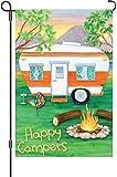 Premier 51093 Garden Premier Soft Flag, Happy Campers, 12 by 18-Inch