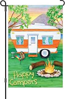 Amazoncom Accent Flag Camping Fun Garden flags decorative flags