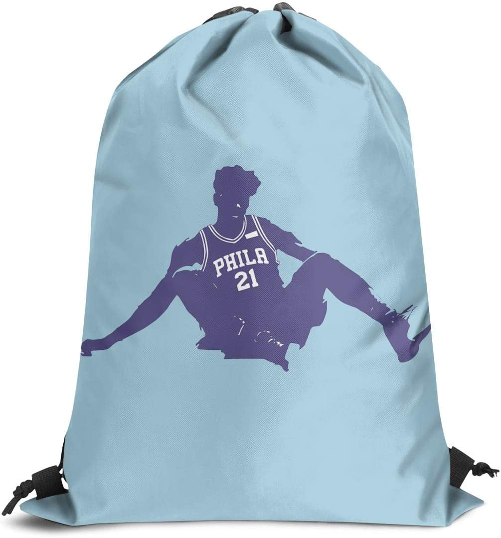 Shoulders Cinch Pack Gifts Trust-The-Process-Embiid Drawstring Bags for Women /& Men