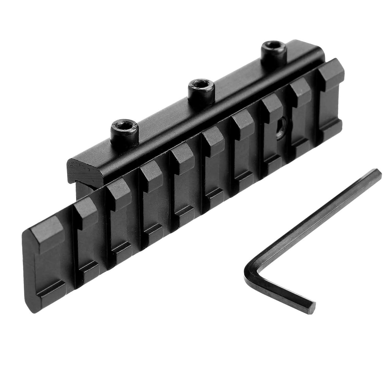Dophee Dovetail Scope Ampliar el montaje de 11 mm a 20 mm Weaver Rail Adapter